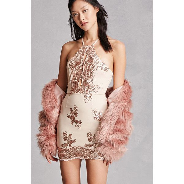 Forever21 Selfie Leslie Sequined Dress 58 Liked On Polyvore Featuring Dresses Rose