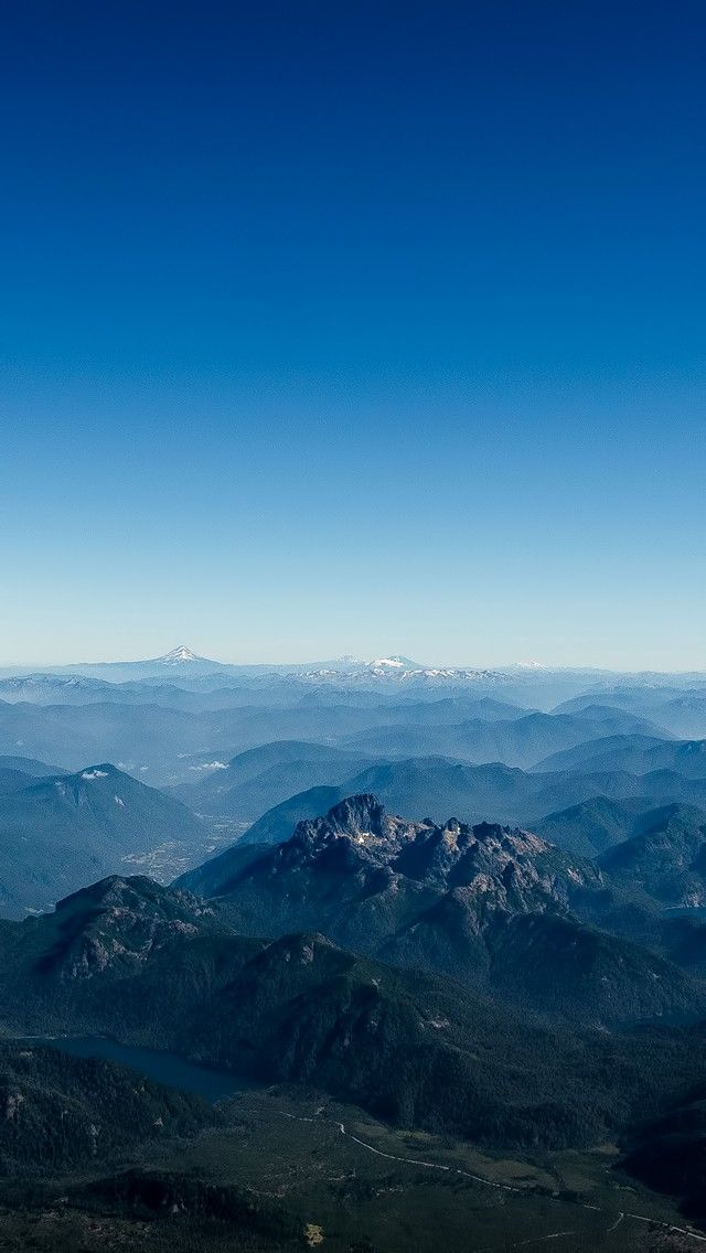 Mountains Aerial View 2018 iOS 11 iPhone X Wallpaper