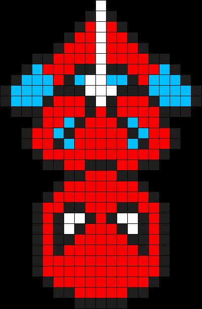 Pixel Art Perler Beads Spiderman Amazon De Handmade