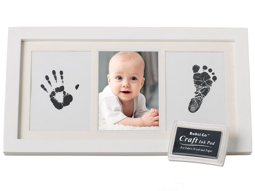 Personalized Keepsake For Baby Nursery Decor Great Baby Gift For Baby Registry Unique Keepsake For Baby Shower Bubzi Co Baby Handprint /& Footprint Clay Ornament Kit for Newborns /& Infants