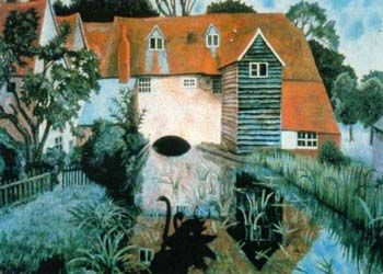 xxx ~ Dora Carrington (1893-1932), The Mill at Tidmarsh (1918)