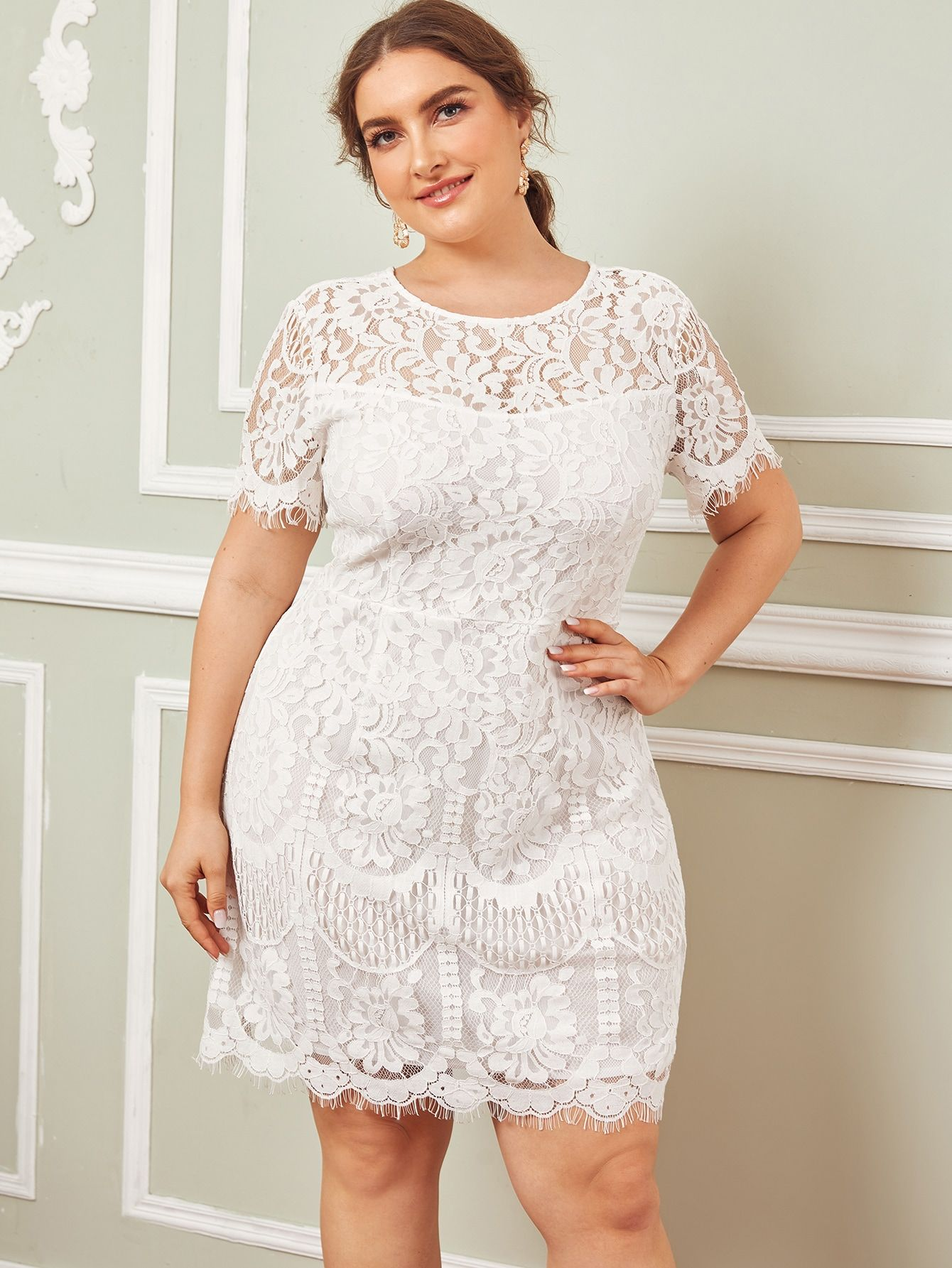 Plus Floral Lace Overlay Dress Lace Overlay Dress Dresses Lace Overlay [ 1785 x 1340 Pixel ]