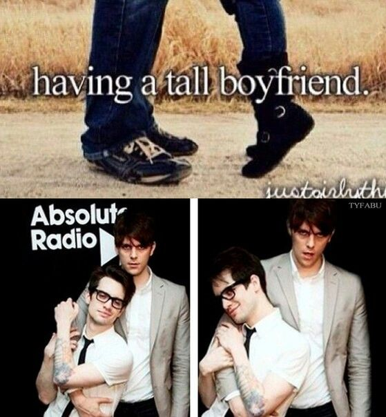 Brallon. Hahaha this is perfect. I'd happily have Dallon as a tall boyfriend.