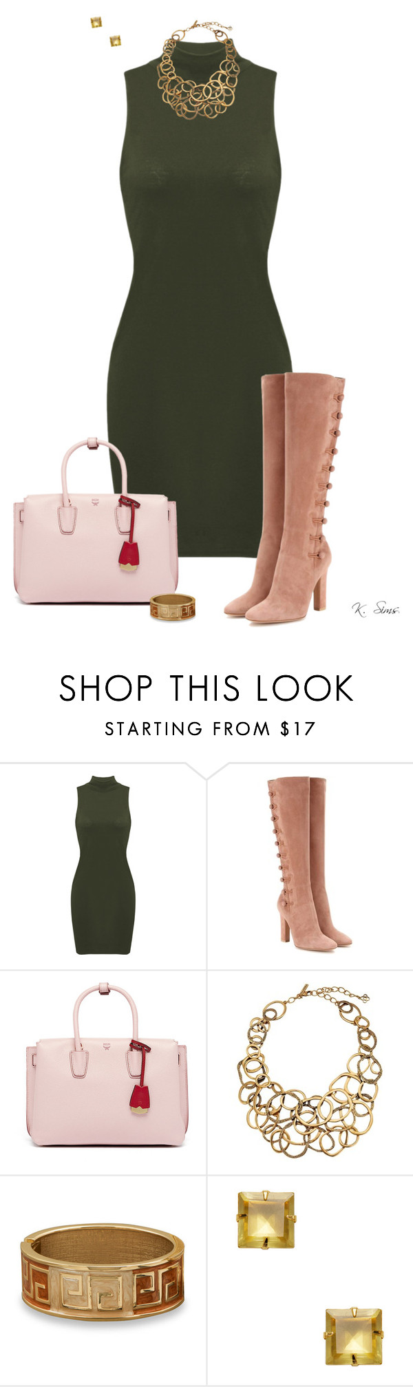 """""""Bold & Beautiful"""" by ksims-1 ❤ liked on Polyvore featuring Gianvito Rossi, MCM, Oscar de la Renta, BillyTheTree and Bounkit"""
