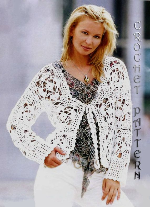 Crochet Woman cardigan Pattern only with written instruction and ...