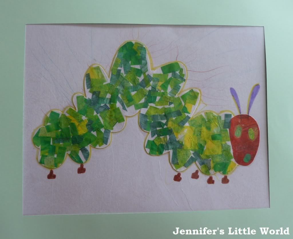 The Very Hungry Caterpillar Collage Pictures Using Tissue Paper