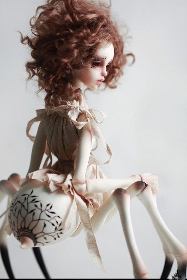 Brand New 1 4 Bjd Spider Girl Doll Spider Body With Face Make Up
