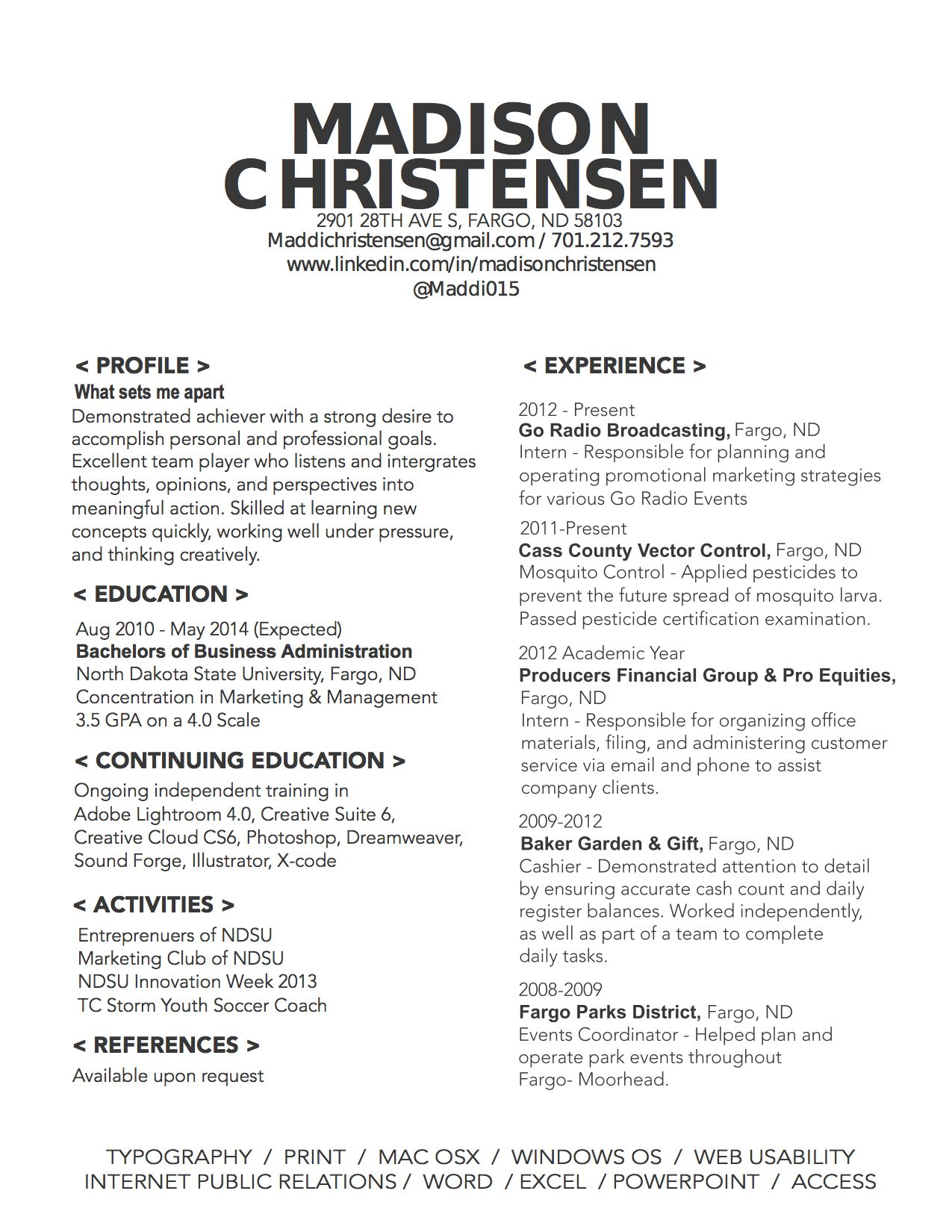 My Resume  Work Stuff    Job Resume Sample Resume
