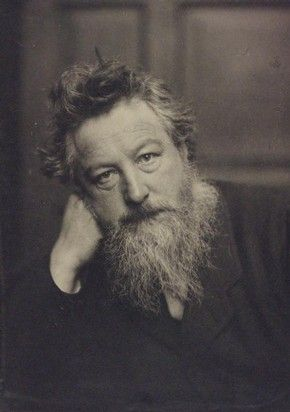 William Morris, photograph in collection of photographic portraits by Frederick Hollyer in three volumes, vol. II, ca. 1884. Museum no. X.589