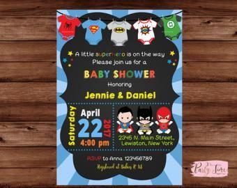 Superhero Baby Shower Invitation Super baby shower Ideas for