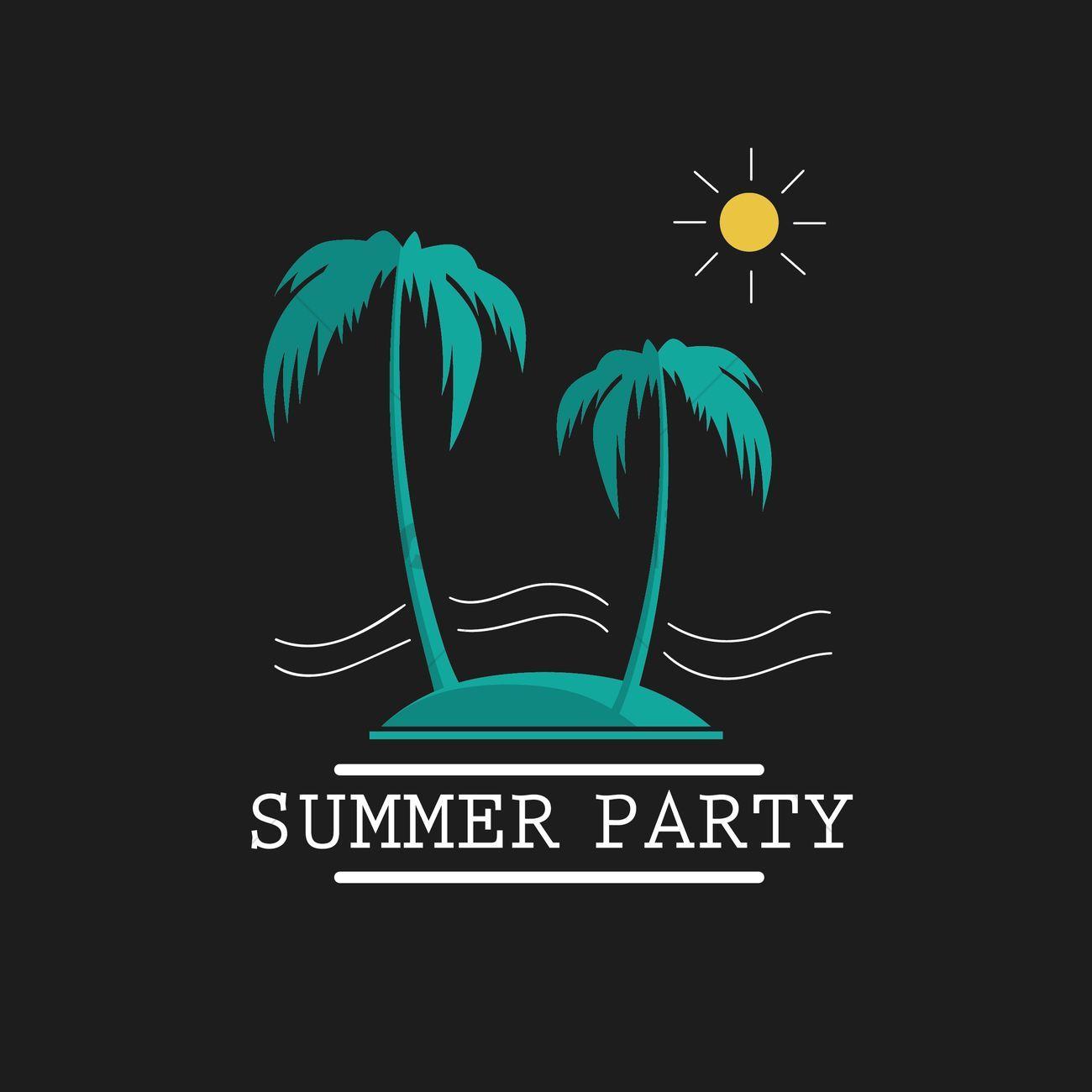 Summer Party Wallpaper Vectors Stock Clipart Affiliate