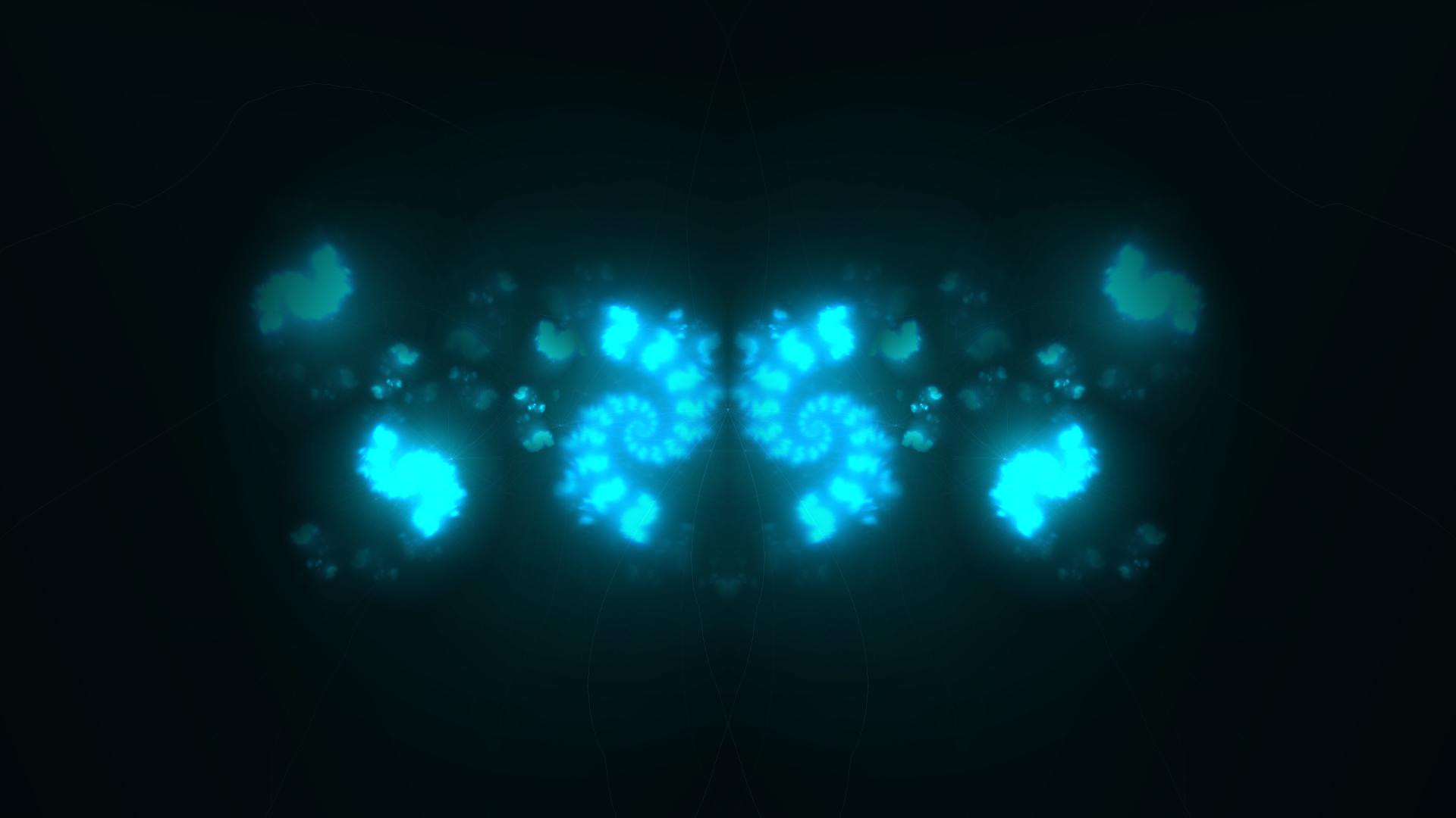 Abstract Blue Dark Lights Fractals 1080p HD Wallpaper