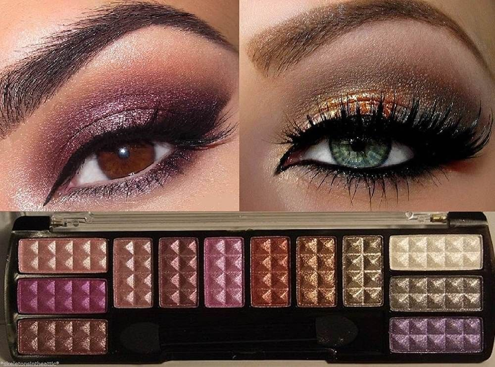 ROSE GOLD Shimmer Matte Eye Shadow Makeup Cosmetic 12