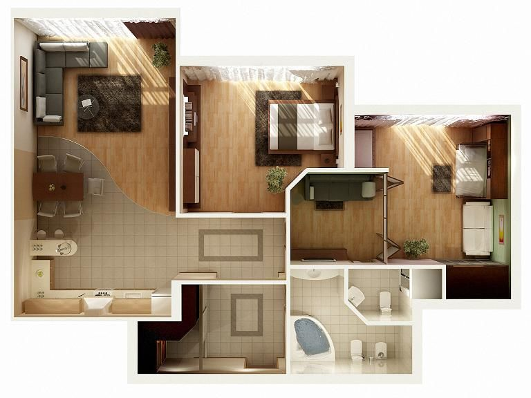3d Floor Plan By Zodevdesign On Deviantart Apartment Plans 2 Bedroom Apartment Floor Plan 2 Bedroom House Plans