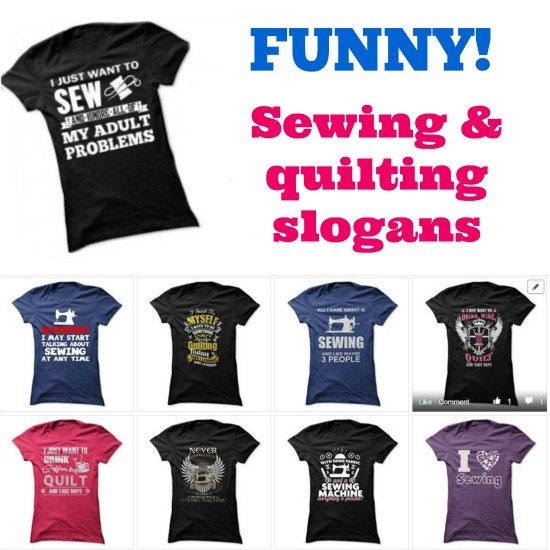8a0b484e Hahaha some of these sewing and quilting t-shirts are hilarious. Can't  decide on my favorite.