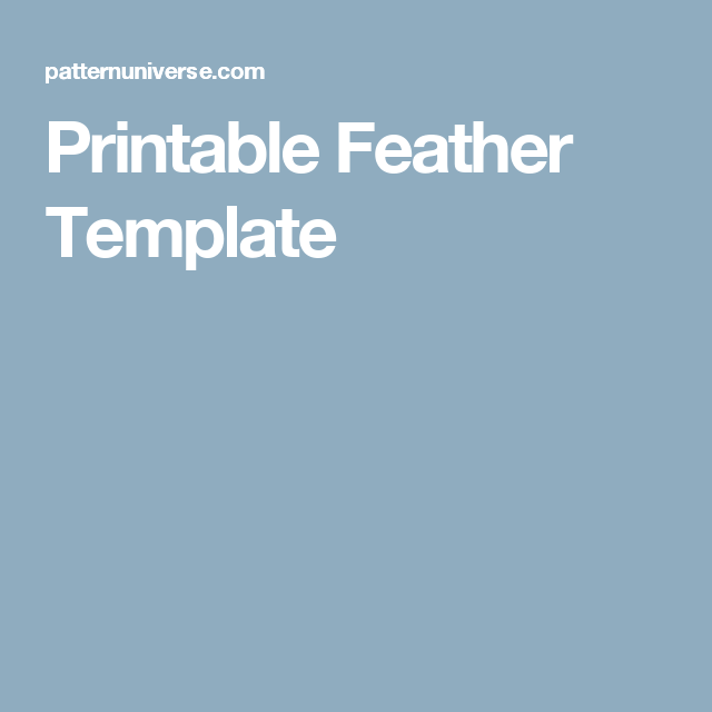 Printable Feather Template