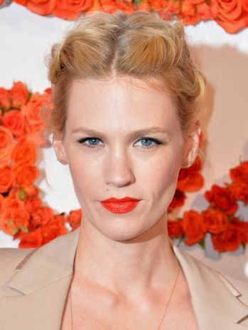 This Parted Braid Looks Stunning On January Jones And The