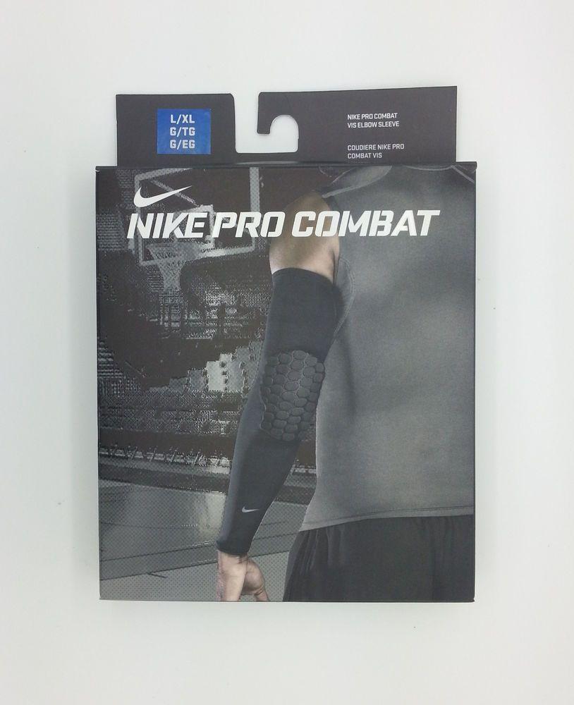 Nike pro combat vis basketball blue elbow sleeve lxl