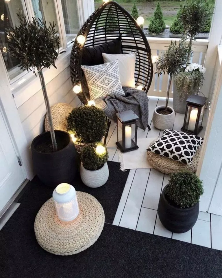 64 awesome apartment balcony decorating ideas 57 #apartmentbalconydecorating ...