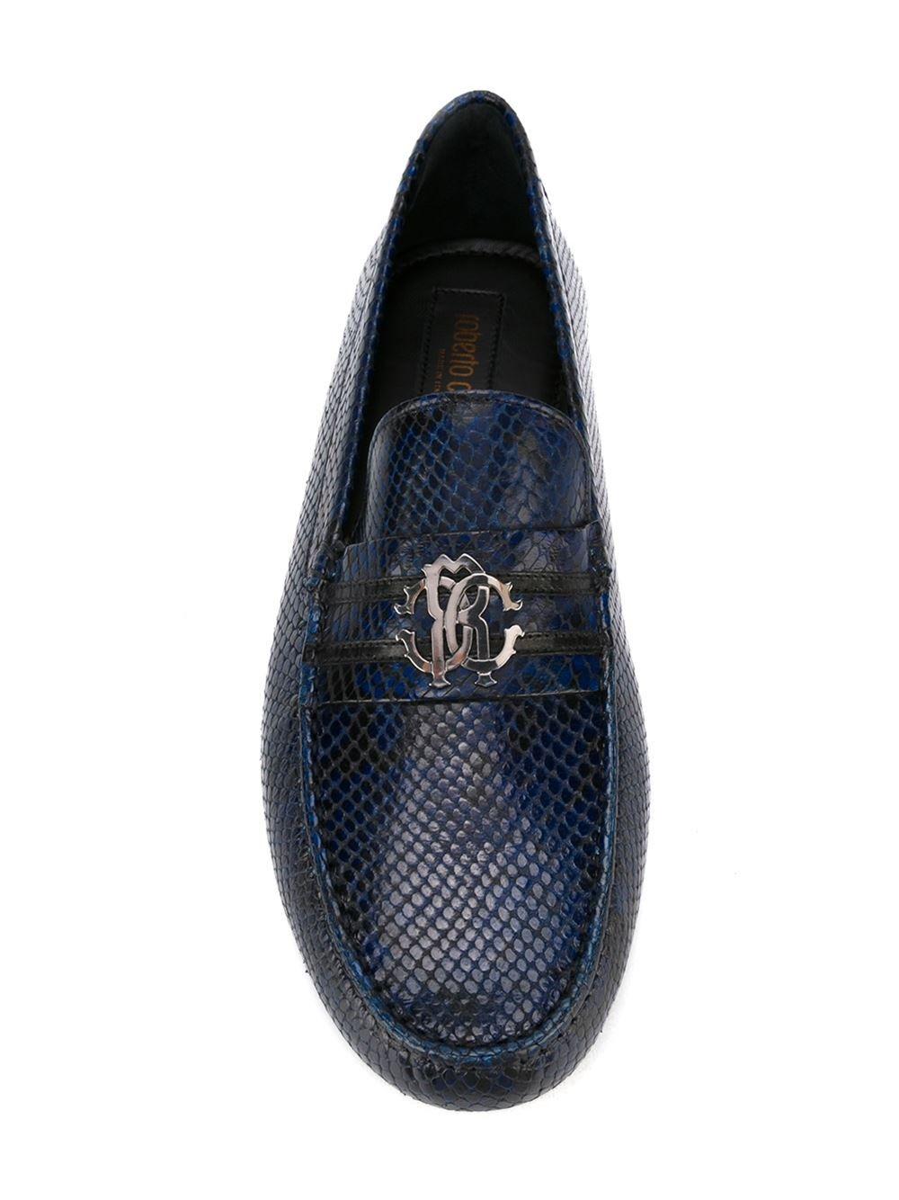 Roberto Cavalli snakeskin loafers  4f6af54970c