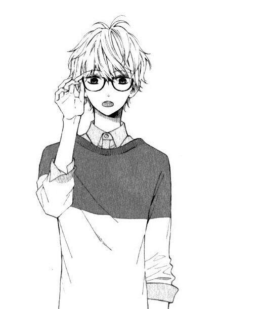Nerdy Boy Anime Boy Anime Drawings Boy Boy Drawing