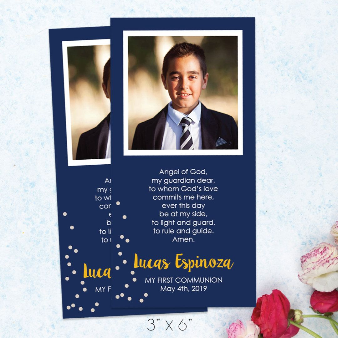 First Communion Favor Cards Personalized Holy Communion