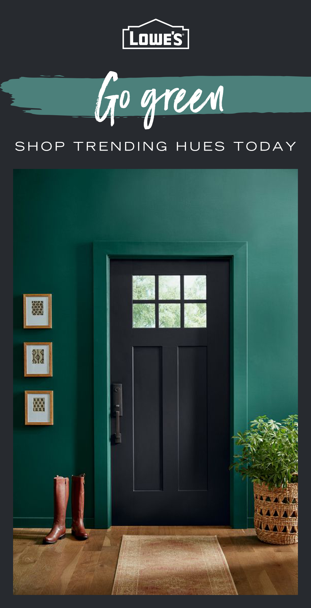 Add a splash of color to any space in your home with paint