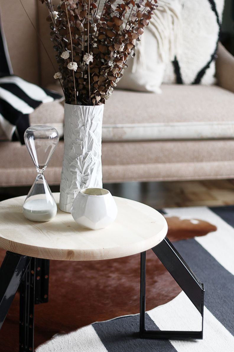 DIY LowProfile Round Coffee Tables Living Room Pinterest - Low profile round coffee table