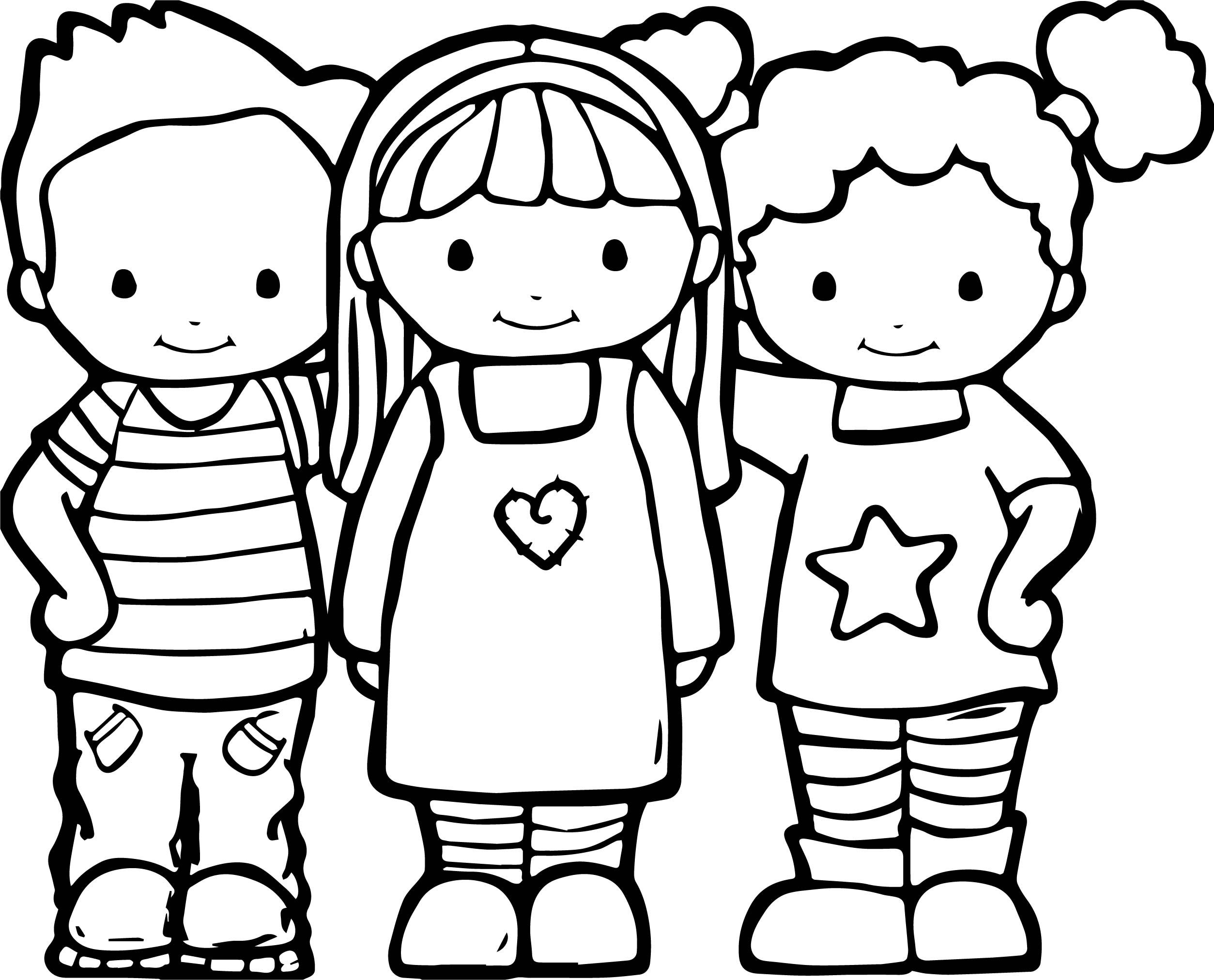 awesome Best Friends Color Coloring Pages | Preschool ...