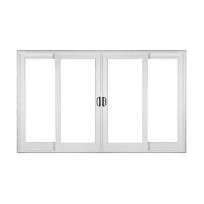 White 4 Panel French Rail Sliding Patio Door With Prosolar Low E Glass Custom Interior Hardware Sliding Patio Doors Patio Doors Sliding Doors Interior