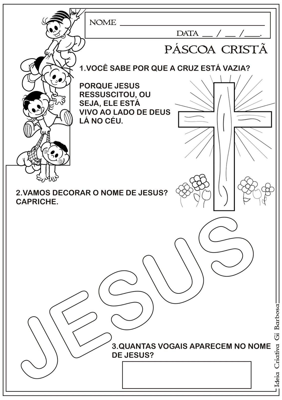 Atividade Pascoa Crista Atividades Para Educacao Infantil