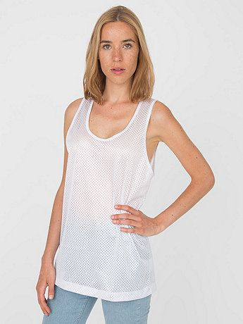 ad81884c5d8056 New! Unisex Poly Mesh Athletic Tank  AmericanApparel