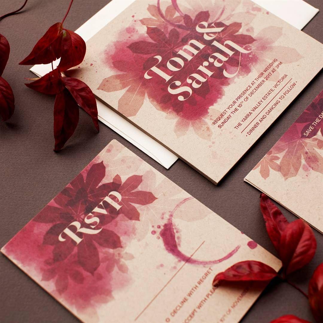 Gorgeous burgundy invitations #paperlust #design #challenge ...