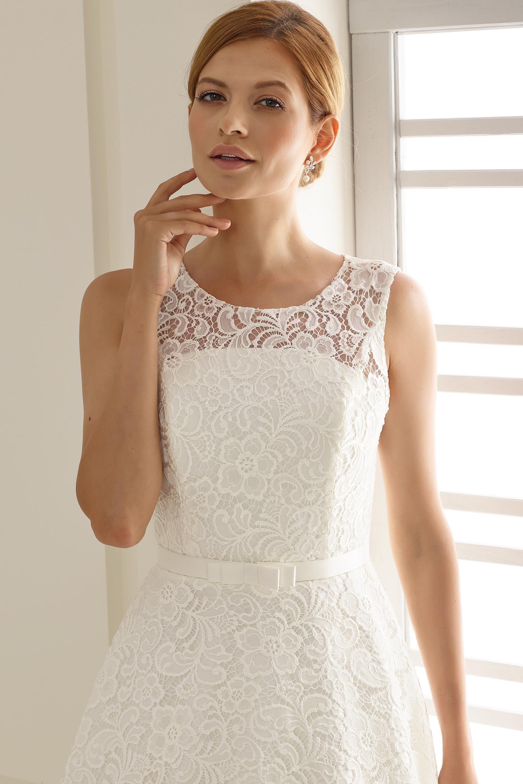 Siena Wedding Dress From Bianco Evento Hitched Co Uk In 2020 Short Bridal Dress Wedding Dresses Tea Length Wedding Dress