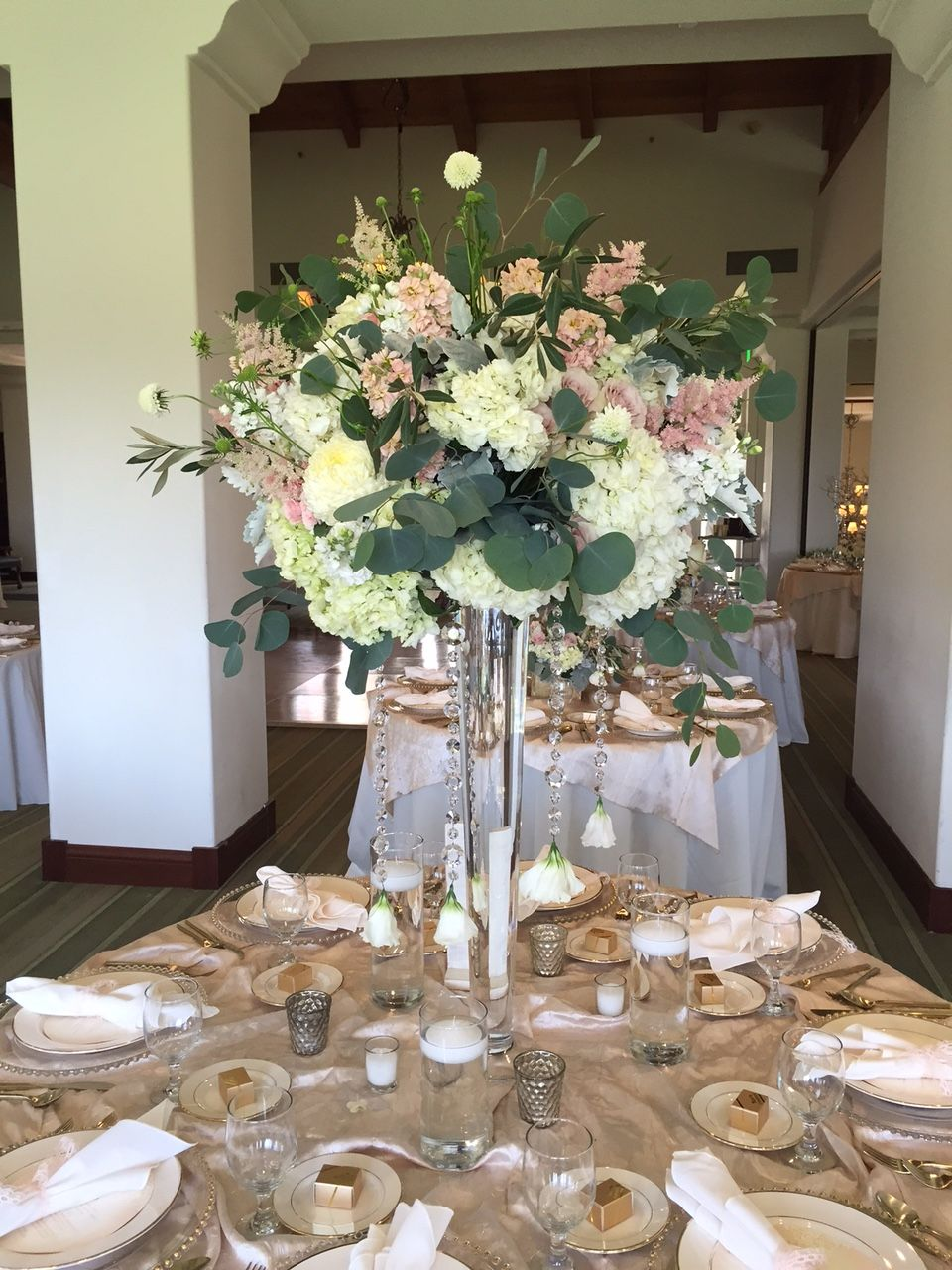Blush Wedding Bakersfield Country Club House of Flowers