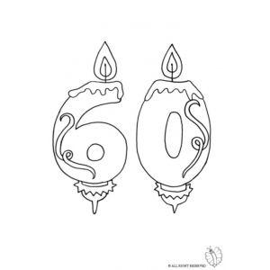 Disegno Di Sessanta Anni Candeline Compleanno Da Colorare Disegni