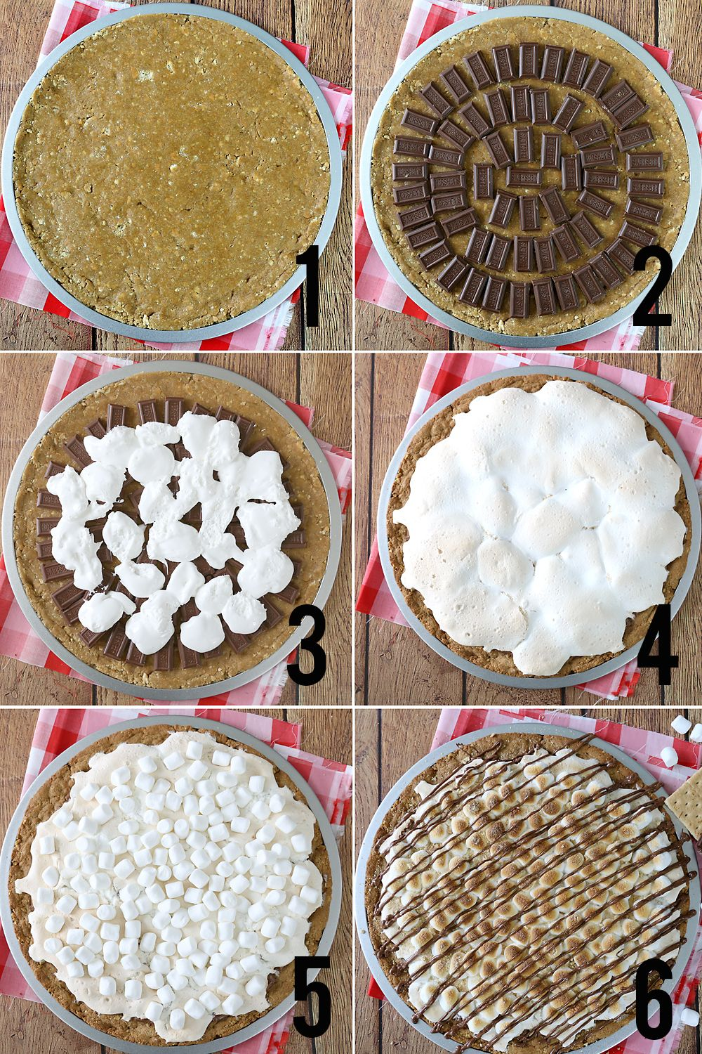 s'mores pizza recipe with graham cracker cookie crust