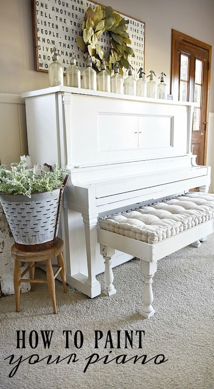 We Painted Our Piano - How To Paint Your Piano | Decor styles ...