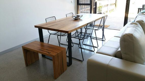 Ol Bessie has been one of our best-selling recycled timber dining tables for some time now. Whats not to like? Clean, modern, minimalist lines mean that this gal is a stunner. She comes with a substantial 40mm thick top and sturdy legs that are fastened securely and allow for