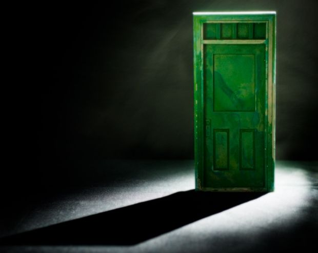 The Green Glass Door