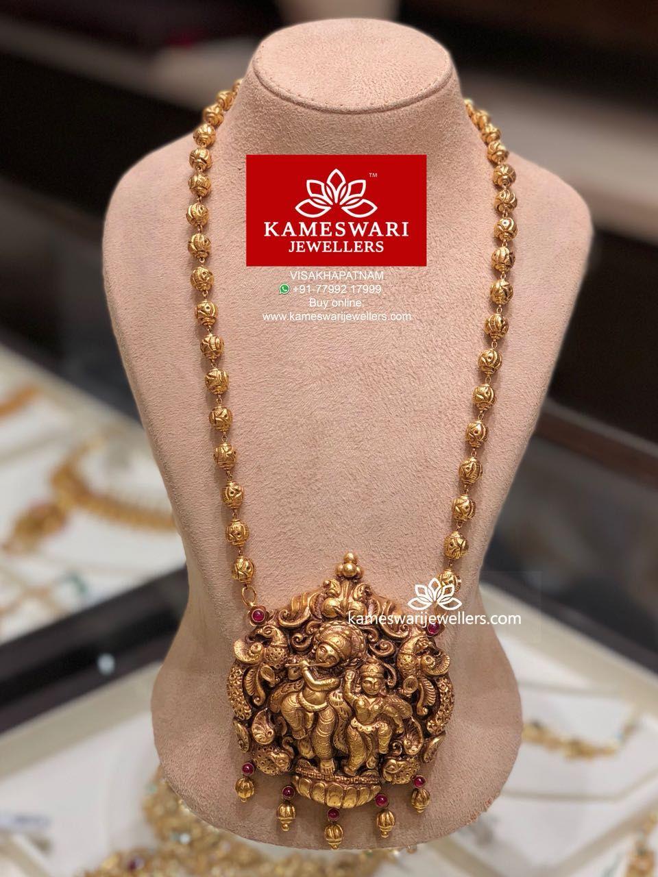 Deep nakashi radha krishna long necklace jewellery pinterest