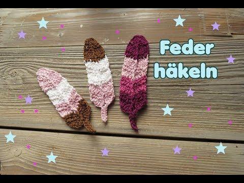 PLUME au crochet – Patron au crochet par Carolines Welt – Marque-pages – Décoration   – Kostenlose Häkel-Anleitungen