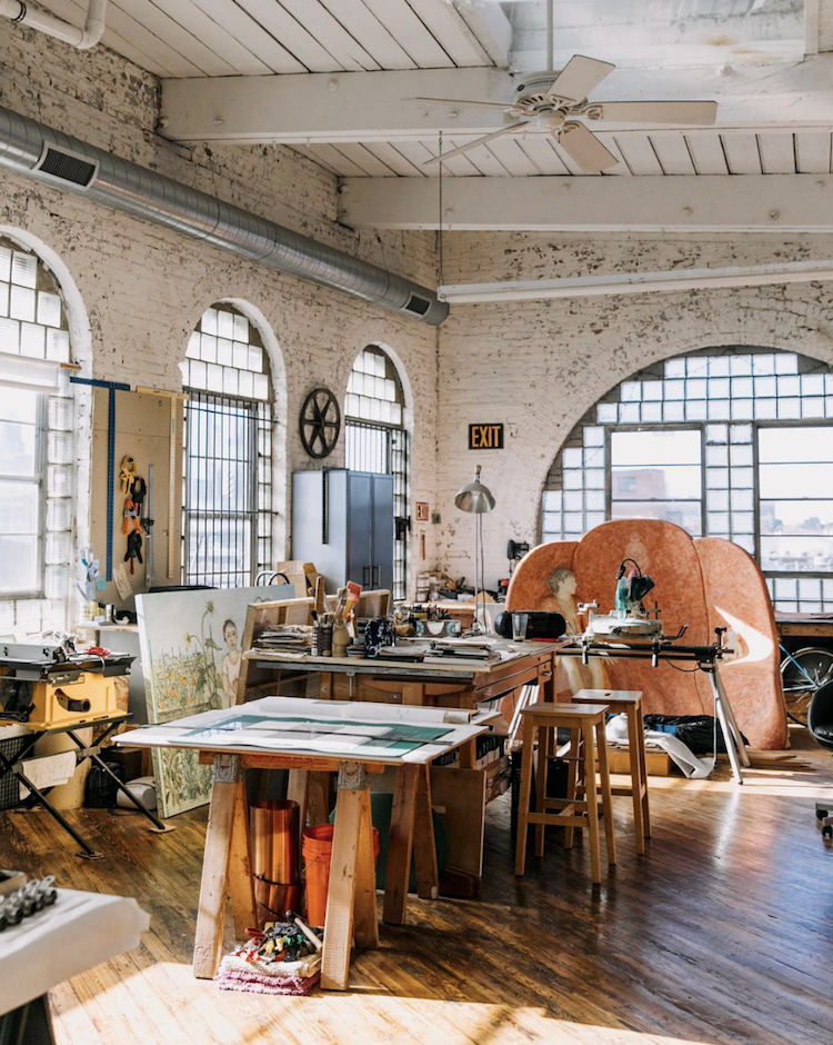 My Scandinavian Home A Fabulous Vintage Inspired Loft In A Former Textile Factory Art Studio Room Studio Room Art Studio