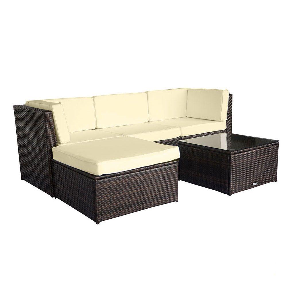 Buy Luxo Muara Wicker Outdoor Sofa Setting Brown Online