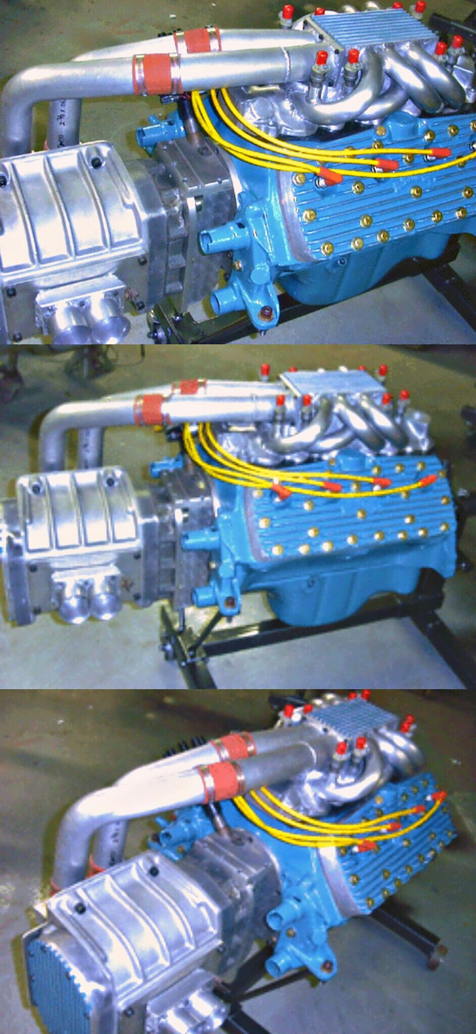 ford flathead with crank driven 471 gmc supercharger [ 942 x 2048 Pixel ]