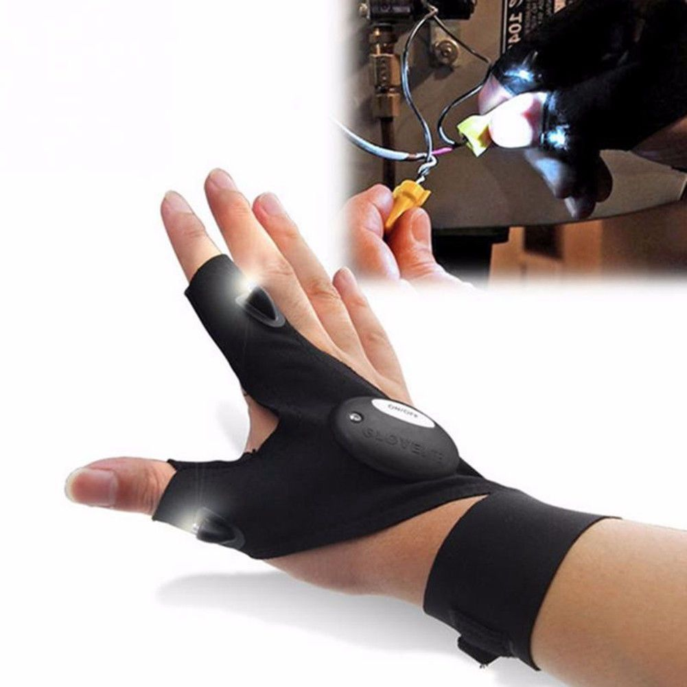 Night Fishing Glove with LED Light Rescue Tools Outdoor Gear Waterproof Lamp Hot