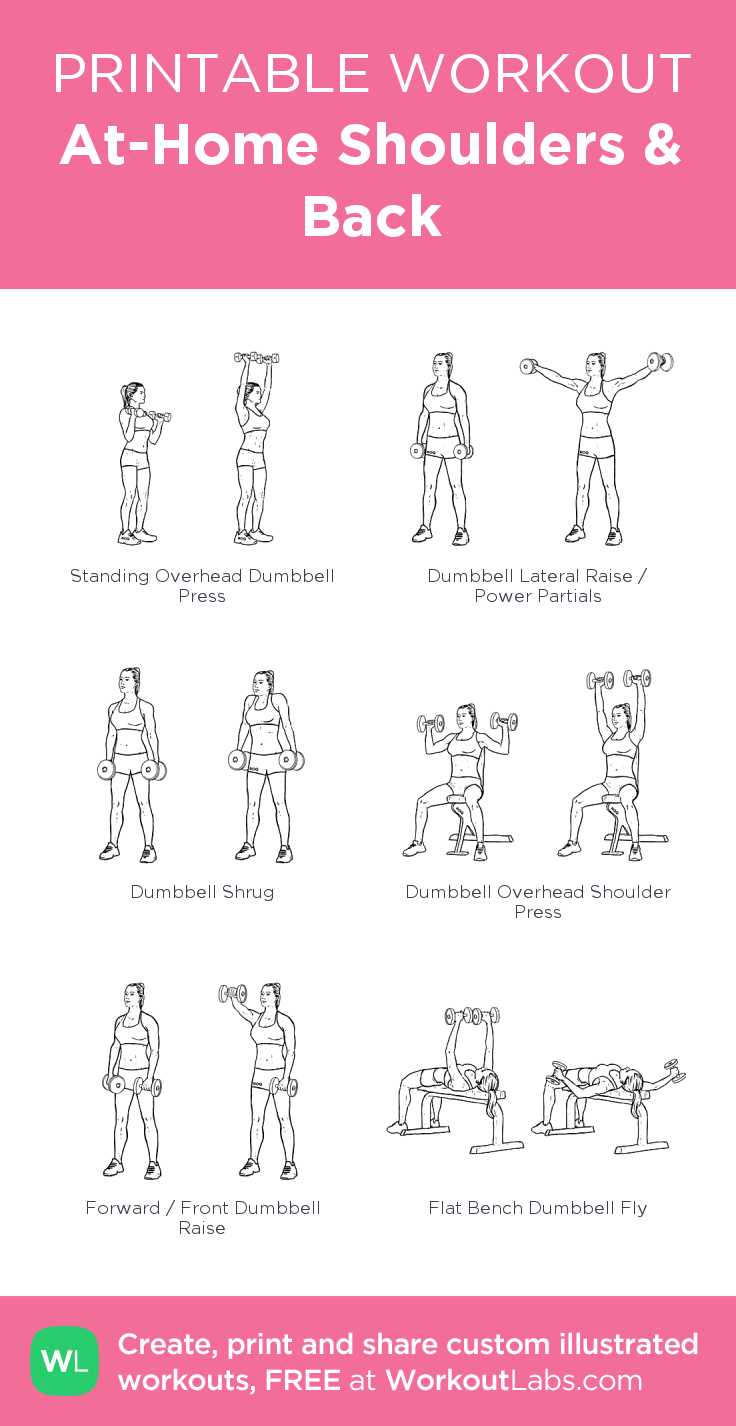 back and shoulder workout at home no weights
