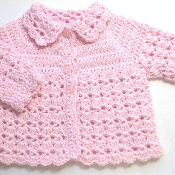 Photo of Baby girl pink outfit – 0 to 4 months girl – Baby shower gift – Crochet baby girl clothing – Infant crochet outfit – Baby pink coat set
