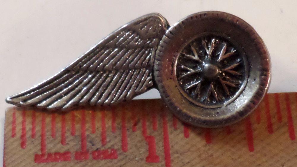Vintage Bush Pilot wings pin collectible old motorcycle biker vest hat pin back