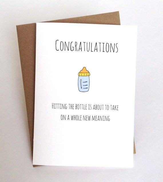 funny new baby card for new parents baby by spellingbeecards  new, Baby shower invitation